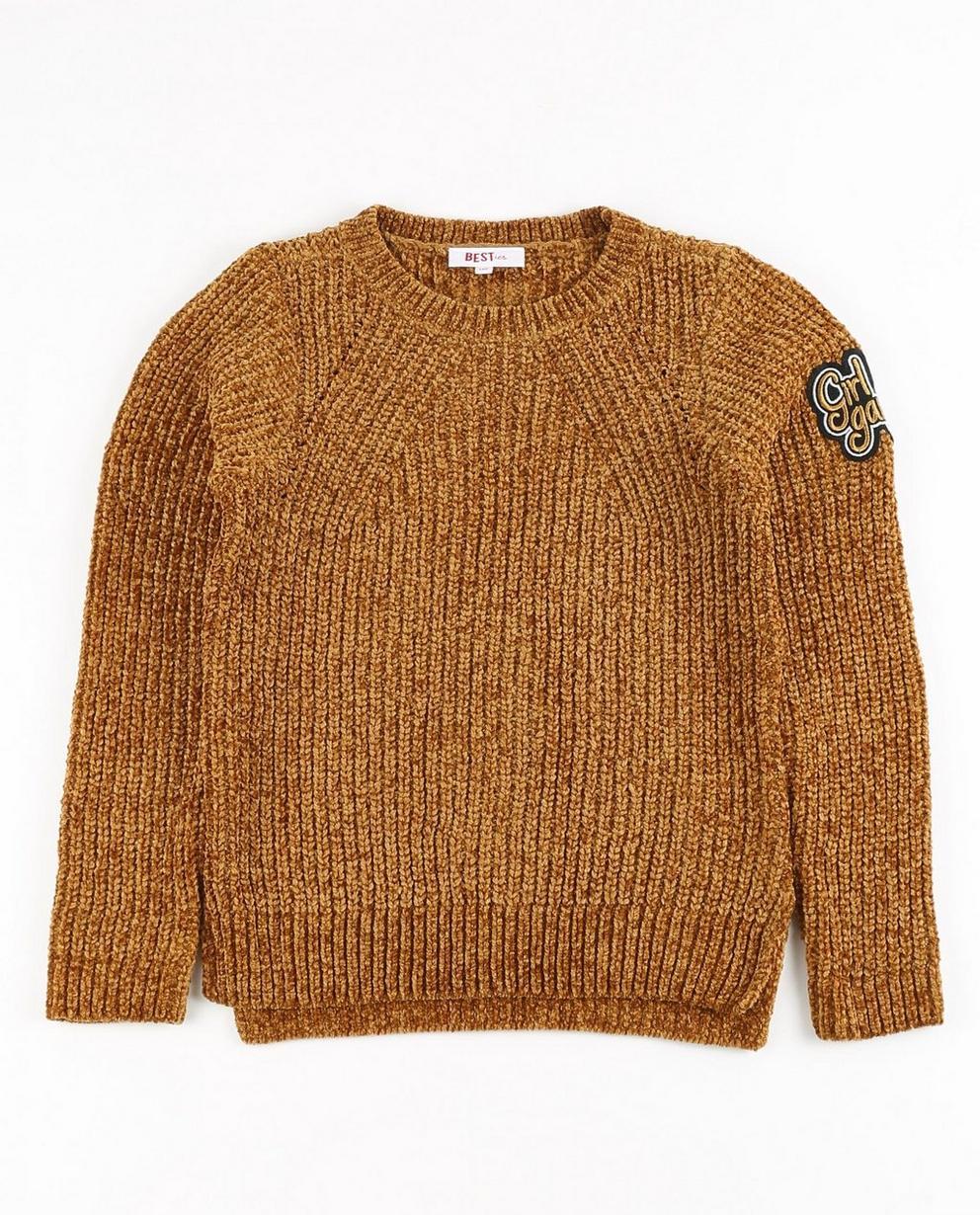 Lichtroze velvet sweater BESTies - null - Besties